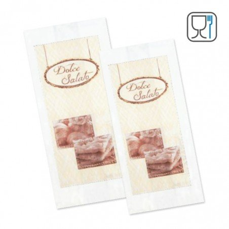 Anti grease paper bags for bakery, pastry with logo Dolce e Salato