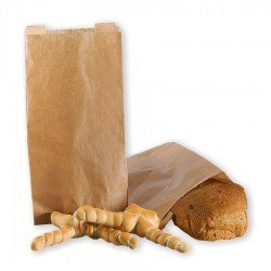 Brown paper bags for bread food