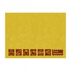 Disposable straw paper placemat 30x40 designed with Break icons