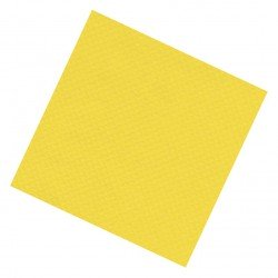 Yellow colored paper tablecloths 100x100cm, box of 250pcs