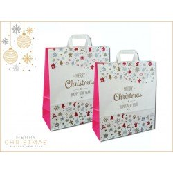 Paper bags fantasy decorated Merry Christmas and Happy New Year