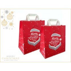 Paper bags fantasy decorated Santa Claus Merry Christmas