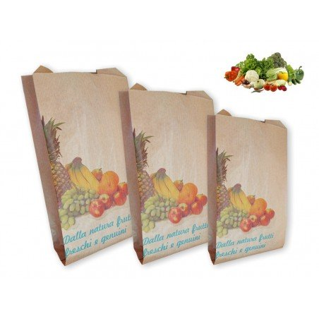 Brown paper bags for Fruits and Vegetables 1000 pcs