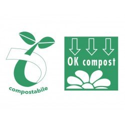 Compostable biodegradable bags with Pharmacy logo