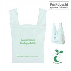 Compostable biodegradable bags Stronger, with reinforced thickness