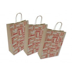 Paper bags logo 'Sale' 200pcs with twisted rope handle
