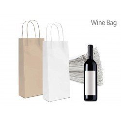 Paper bag logo Art Decò with flant handle havana