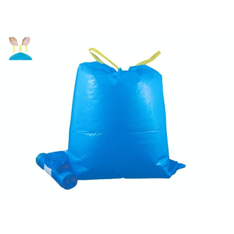 Garbage bags with handles